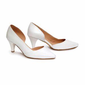 נעל עקב/ג'ני/532 – לבן
