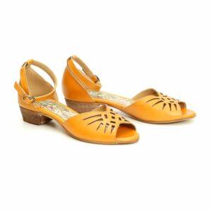סנדל לייזר/יונית/662 – צהוב