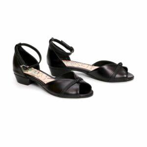 נעלי עקב לנשים/663/לין – שחור